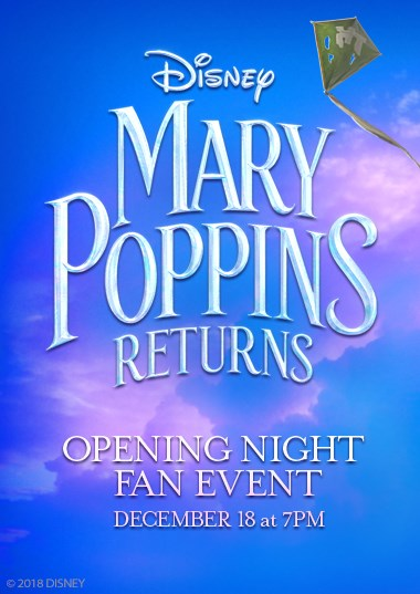 Mary Poppins Returns Opening Night Fan Event Poster