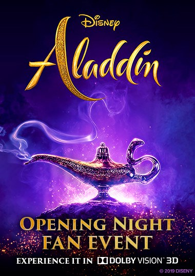 Opening Night Fan Event: Aladdin 3D Poster
