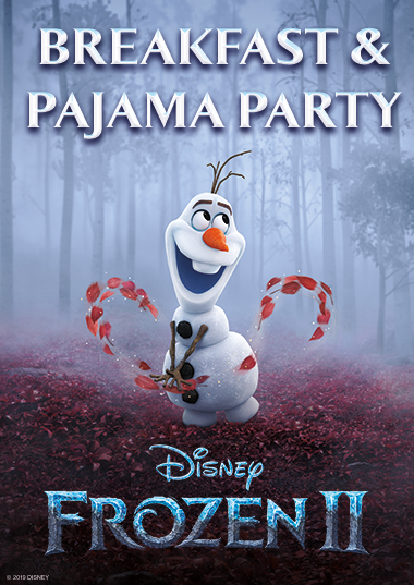 Frozen 2 Breakfast and Pajama Party Poster