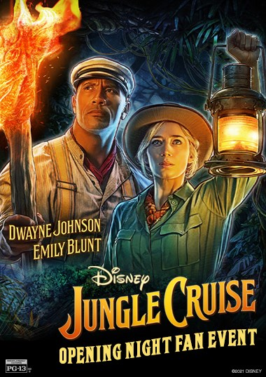 Jungle Cruise - Opening Night Fan Event Poster