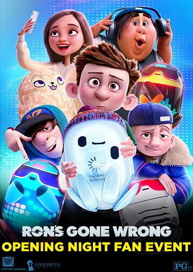 Ron's Gone Wrong Fan Event Poster